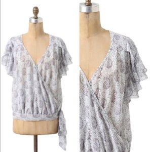 MOULINETTE SOEURS Hedera wrap floral blouse